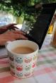 Mein Blogging-Platz bei schönem Wetter
